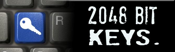 2048 bit keys