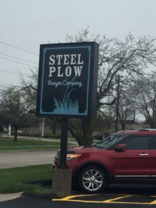 Steel Plow Roadsign